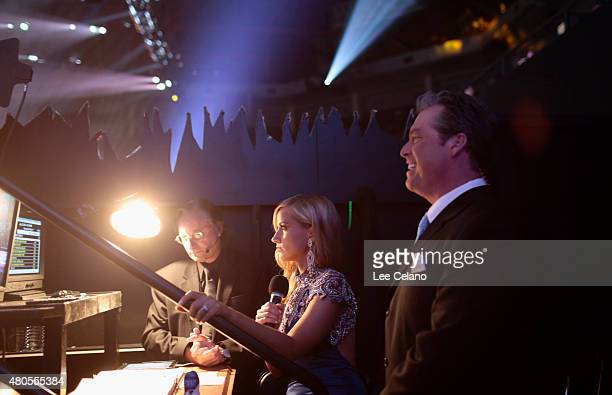 Hosts Todd Newton and Former Miss Wisconsin Alex Wehrley wait backstage at the 2015 Miss USA Pageant Only On ReelzChannel at The Baton Rouge River...