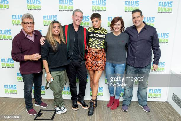 Hosts Uncle Johnny Pool Medha Gandhi Elvis Duran Halsey Danielle Monaro and Skeery Jones as Halsey discusses the Victoria's Secret Fashion Show with...