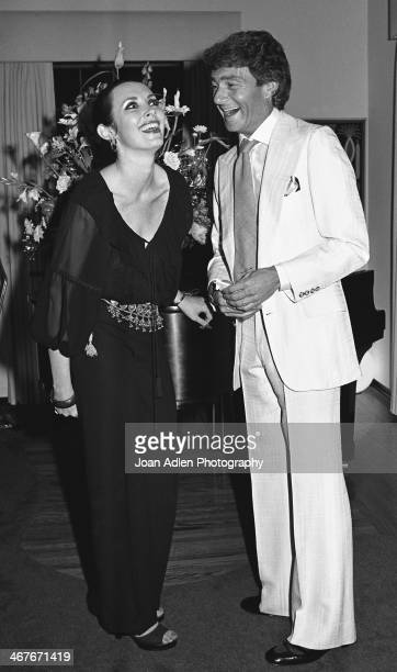 Hosts Vidal and Beverly Sassoon hold a reception for Dame Margot Fonteyn at their home on June 1 1978 in Beverly Hills California