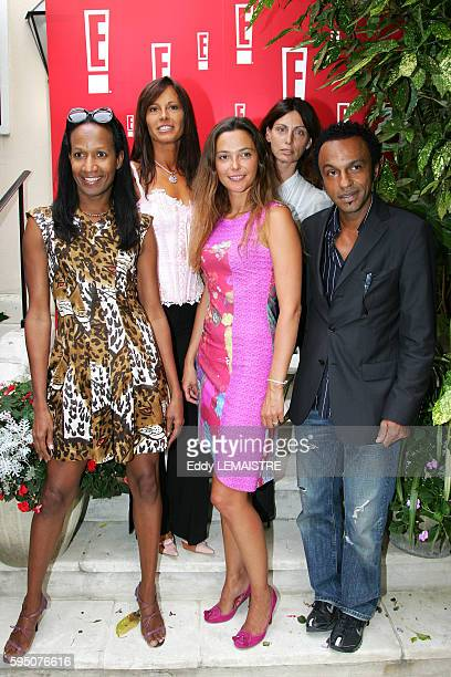 TV Hosts Vincent Mc Doom Nathalie Marquay Sandrine Quetier Laurence Katche and Manu Katche at the press conference for TV channel E Entertainment