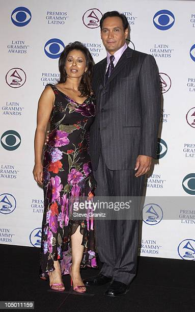 Hosts Wanda De Jesus Jimmy Smits at the 3rd Annual Latin GRAMMY Awards at the Kodak Theater