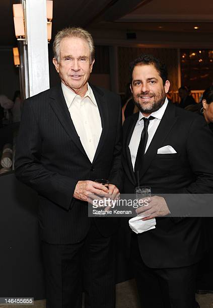Hosts Warren Beatty and Brett Ratner attend the 100th anniversary celebration of the Beverly Hills Hotel Bungalows supporting the Motion Picture...