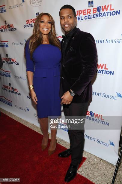 Hosts Wendy Williams and A J Calloway attend the Super Bowl Gospel Celebration 2014 on January 31 2014 in New York City