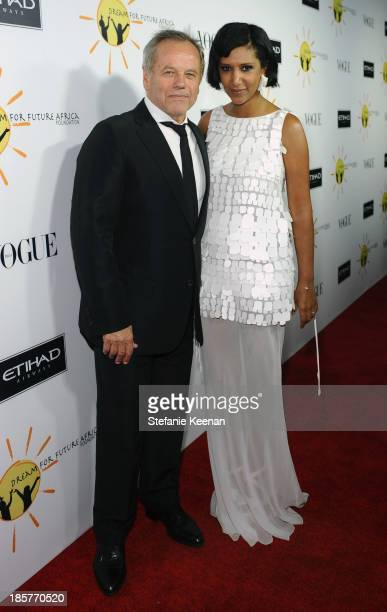 Hosts Wolfgang Puck and Gelila Puck attend Dream for Future Africa Foundation Inaugural Gala honoring Franca Sozzani of VOGUE Italia at Spago on...
