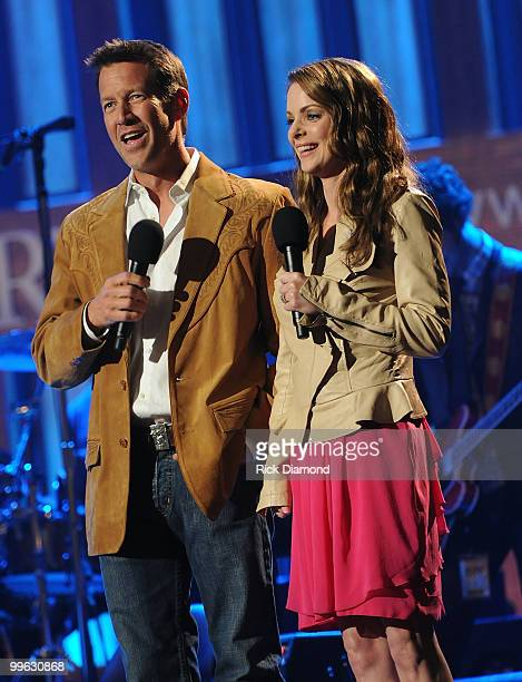 Hosts/Actors James Denton and Kimberly Williams Paisley during the Music City Keep on Playin' benefit concert at the Ryman Auditorium on May 16, 2010...
