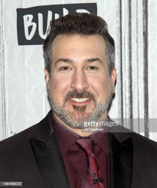 Host/singer Joey Fatone attends the Build Brunch at Build Studio on January 15 2019 in New York City