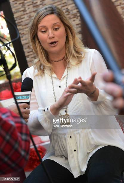 Host/Singer/Songwriter Jennifer Nettles of Sugarland interviewed during the press conference announcing that Nashville audience are encouraged to...