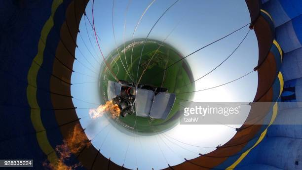 hot air balloon - 360 - the bigger picture stock pictures, royalty-free photos & images