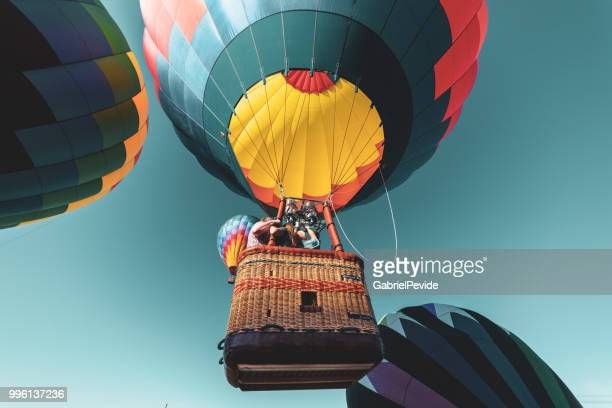 hot air balloon - empire state hot-air balloon festival 2018 - hot air balloon stock pictures, royalty-free photos & images