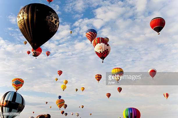 hot air balloon festival - sponsra bildbanksfoton och bilder