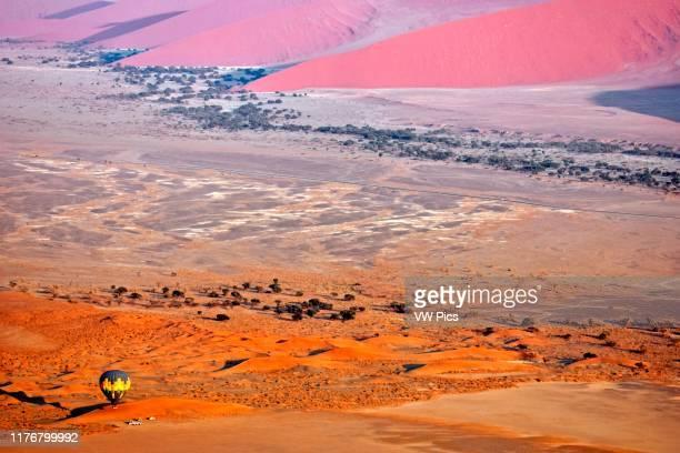 Hot air balloon flight over the Namib Desert. Sossusvlei area. Sesriem. Namibia.