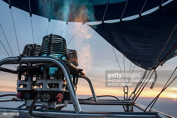 hot air balloon gas burner - photostock stock pictures, royalty-free photos & images