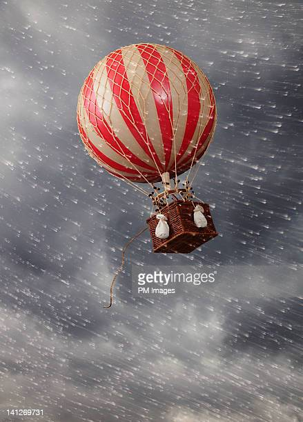 Hot air balloon in storm