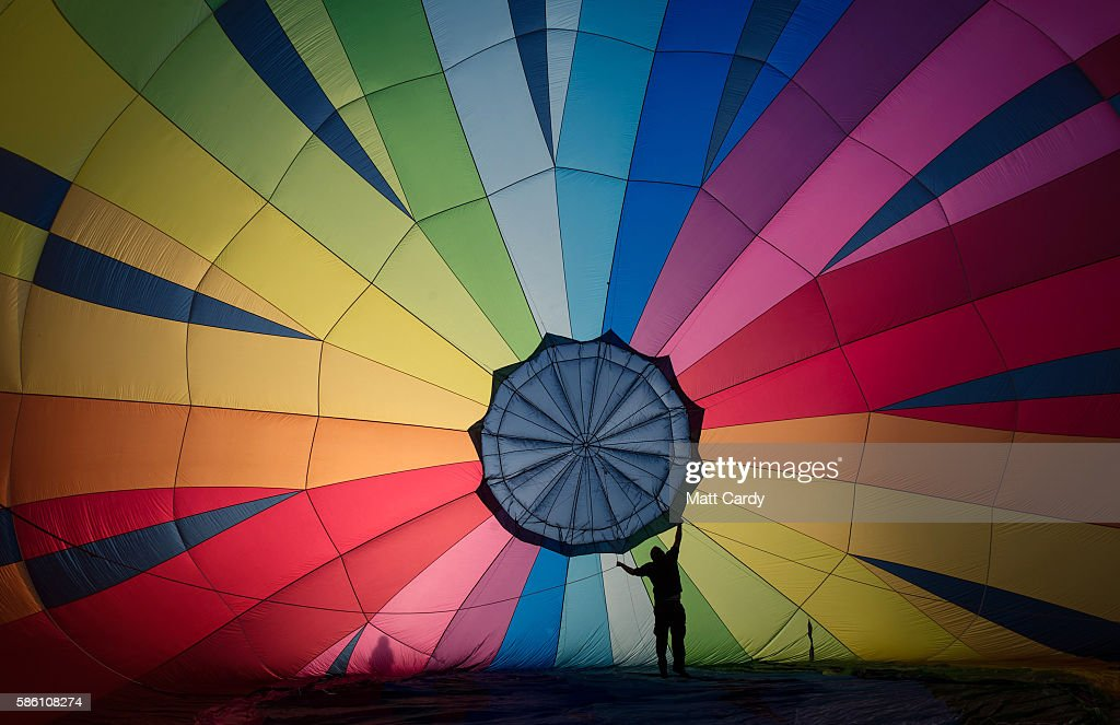 A hot air balloon is prepared to take to the skies at a preview flight to launch next week's Bristol International Balloon Fiesta on August 5, 2016 in Bristol, England. The four day event event, which will officially open next week on Thursday, is now in its 38th year and is Europe's largest annual hot air balloon event in the city that is seen as many as the home of modern ballooning.