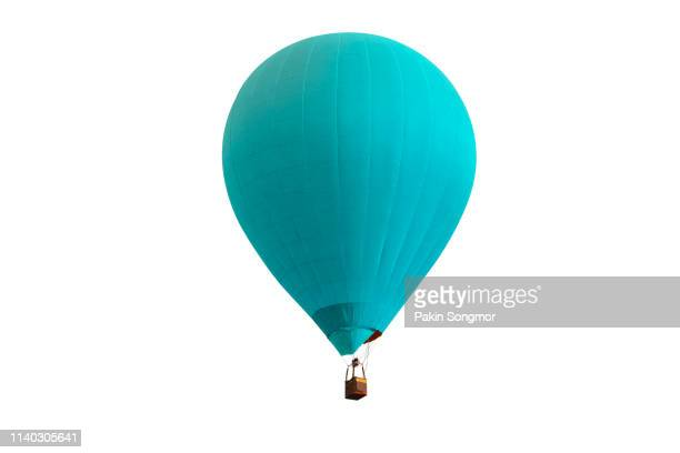 hot air balloon isolated on white background. - balloon ride stock pictures, royalty-free photos & images