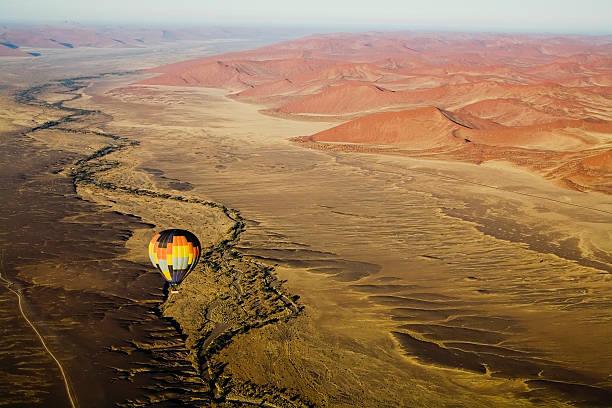 Hot Air Balloon Over Desert Landscape Wall Art