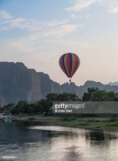 Hot air balloon over Vang Vieng