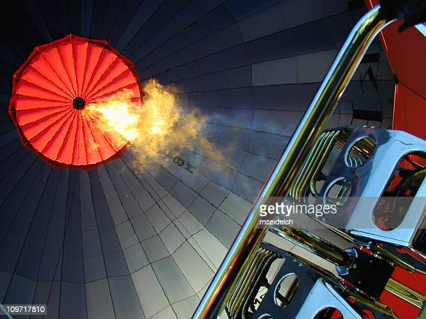 hot air ballon - fire natural phenomenon stock pictures, royalty-free photos & images