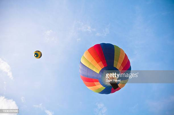 hot air balloon - low angle view stock pictures, royalty-free photos & images