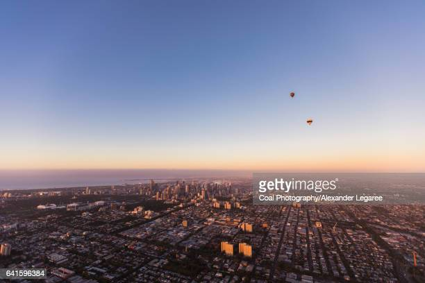 Hot air balloon ride above Melbourne, Australia