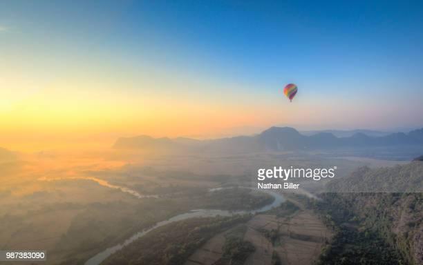 Hot Air Balloon Ride Over Vang Vieng, Laos
