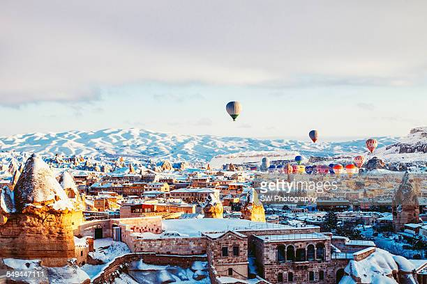 Hot air balloon trip in Cappadocia