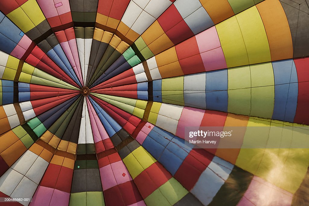 Hot Air Balloon With Flame Full Frame Stock Photo Getty Images