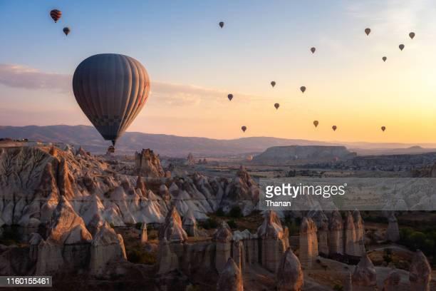 hot air balloon,cappadocia,turkey - cappadocia stock pictures, royalty-free photos & images