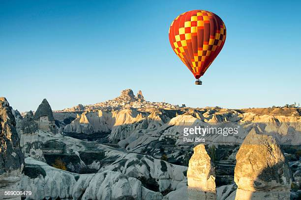 Hot air ballooning in the sunrise in Cappadocia