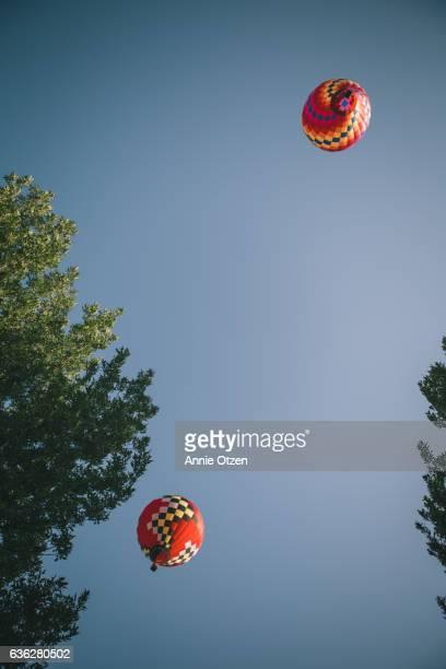 Hot Air balloons Above