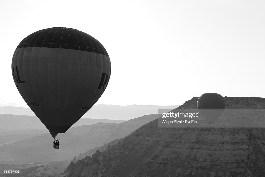Hot Air Balloons Against Sky : Foto stock