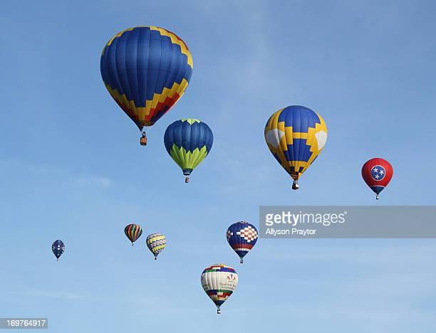 Hot Air Balloons, Decatur, Alabama, Alabama Jubilee, Memorial Day weekend, Blue Sky