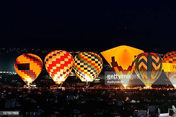 Hot Air Balloons Glowing