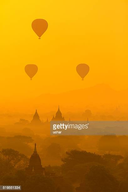 Hot air balloons in Bagan, Myanmar