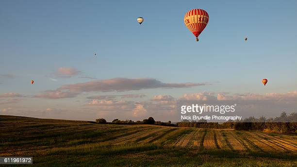 Hot Air Balloons, Jutland, Denmark.