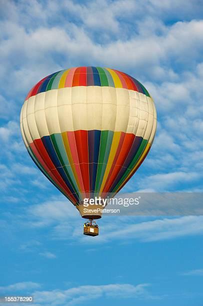 Hot Air Balloons over Farm Land