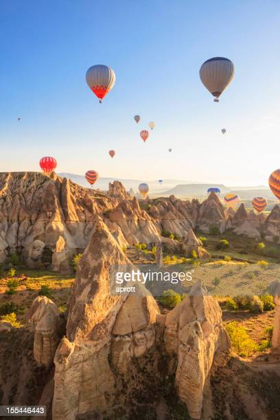 Hot air balloons over Love Valley, Cappadocia, Turkeys