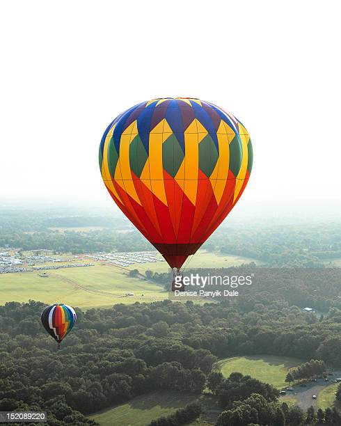 hot air balloons - readington new jersey stock pictures, royalty-free photos & images