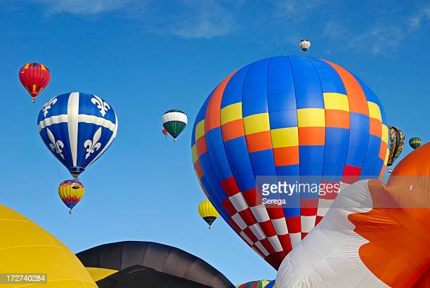 hot air balloons - gatineau stock pictures, royalty-free photos & images