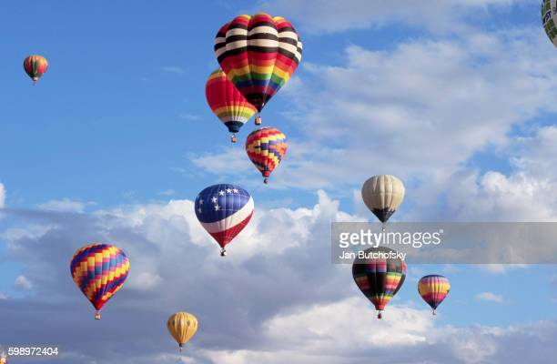 hot air balloons - scottsdale arizona stockfoto's en -beelden