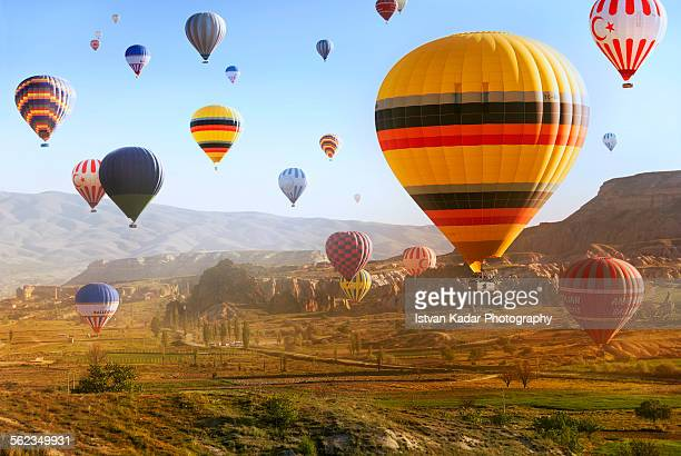 Hot air balloons Rising in Cappadocia, Turkey