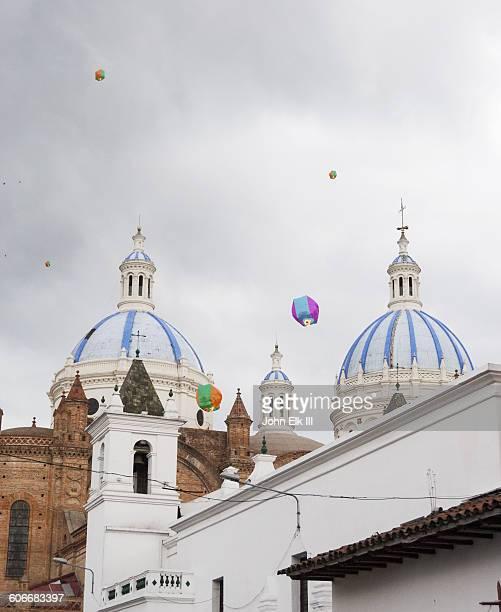 Hot air baloons in Cuenca, Ecuador
