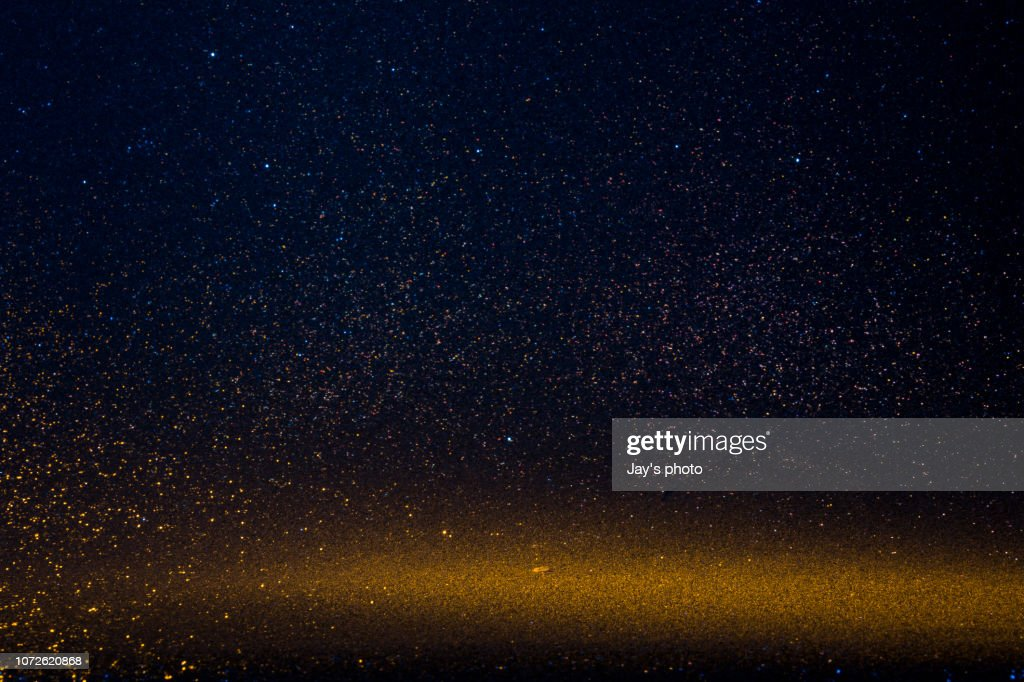 Hot and cold defocused lights : Stock Photo
