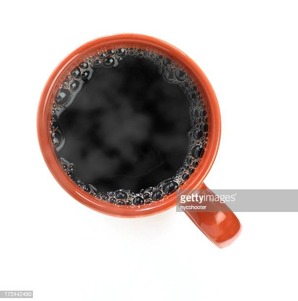 Hot black coffee