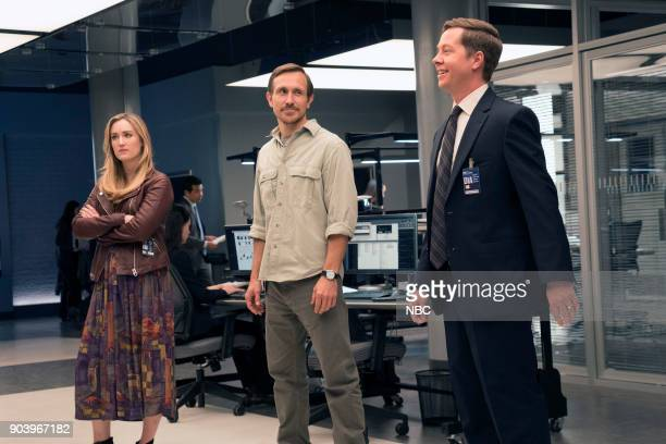 BLINDSPOT 'Hot Burning Flames' Episode 309 Pictured Ashley Johnson as Patterson Chad Donella as Jake Keaton Peter Oldring as DIA Dave