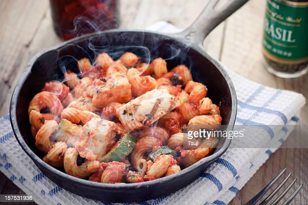 Hot Cavatappi in Skillet