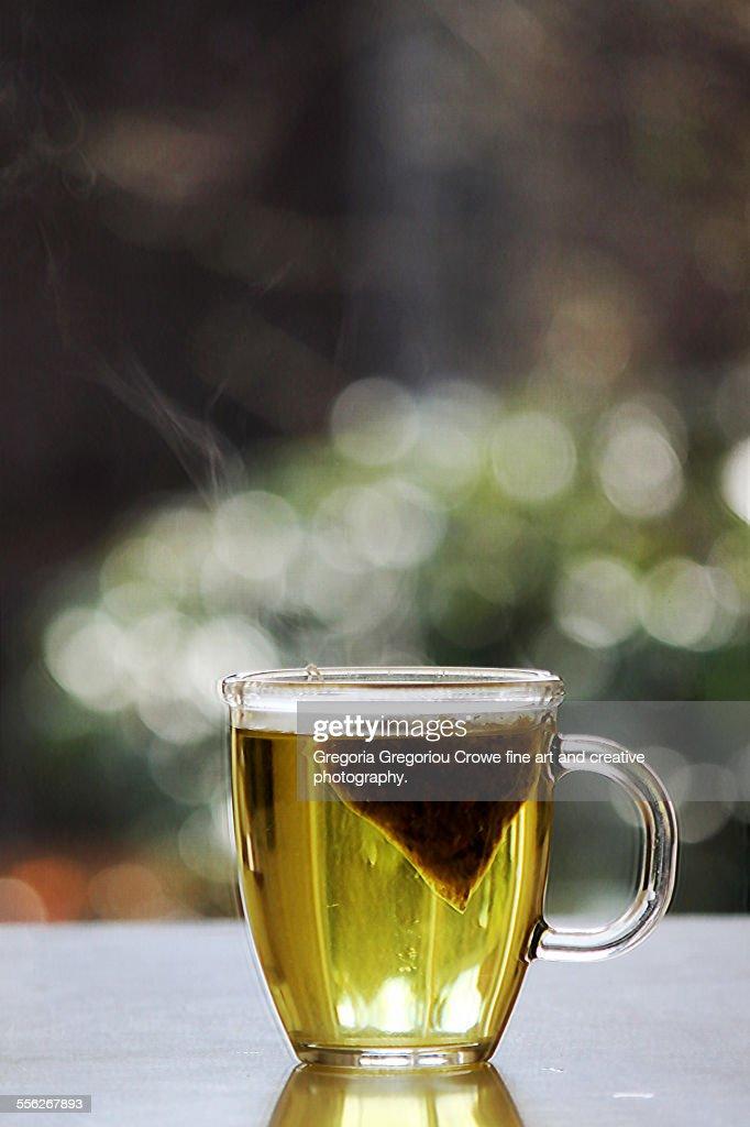 Hot chamomile tea : Stock Photo
