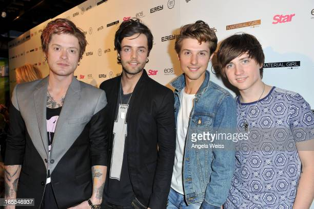 Hot Chelle Rae Nash Overstreet Ian Keaggy Ryan Folles and Jamie Folles attend Star Magazine's Hollywood Rocks event held at Playhouse Hollywood on...