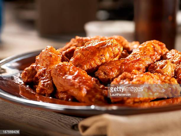 hot chicken wings - chicken wings stock pictures, royalty-free photos & images
