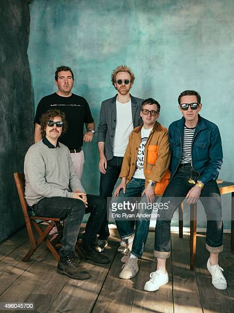 Hot Chip poses for a portrait at the Governors Ball 2015 Music Festival for Billboard Magazine on June 6 2015 in New York City